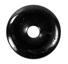 Edelstein Donut Anhänger Ø 40 mm PI Stein große Auswahl Donutstein Stein Scheibe