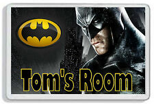 Personalised Batman Kids Door Plaque - Childrens Bedroom *SIZE = 9.5 x 6.5 cm*