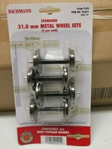 # 92421 Bachmann Steel Wheels Case of 6 Cards of 4 Axles Factory Brand New G Sca