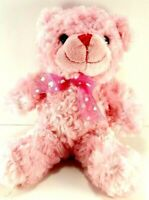 "Valentine Pink Bow Heart Teddy Bear Plush Stuffed Animal Dan Dee 10"" Soft"