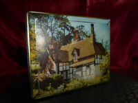 VINTAGE CONFECTIONERY TIN Edward Sharp & Sons -Country Cottage- Food Advertising