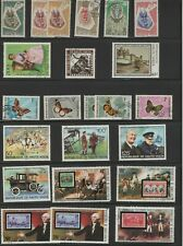 BURKINA  FASO LOT / COLLECTION OF 23 STAMPS ANIMALS BUTTERFLIES PEOPLE