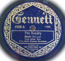 Bessie Keaunui - The Rosary / Honolulu March - Gennett 4999 - Bell's Famous
