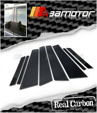 DRY REAL CARBON FIBER DOOR PILLAR Panel Decal Covers for BMW E71 X6 2009-2014