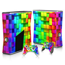 Xbox 360 Slim Console Skin Decal Sticker Tetro World + 2 Controller Custom Set