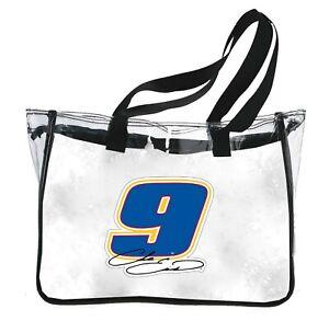 NASCAR Clear Tote Bag-Chase Elliott #9 Reusable Shoulder Tote Bag