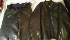 Vintage Buco cafe racer J100 Jacket Steerhide Leather Biker Motorcycle , pants