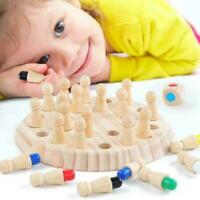 Wooden Memory Match Stick Chess Game Children Early 3D Puzzles Educational T5D9