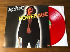 AC/DC ~ POWERAGE ~ RARE LIMITED EDITION RED VINYL LP