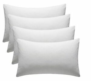 4 PACK White 100% Egyptian Cotton Housewife Hotel Quality Pillowcases