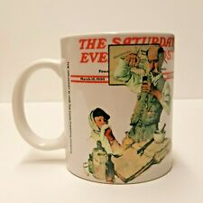 Norman Rockwell The Saturday Evening Post 1939 'The Druggist' Coffee Mug Cup Euc