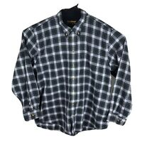 Barbour Mens The Country Shirt Blue Plaid Corduroy Cuffs Long Sleeve Casual XL