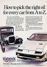 1985 Nissan 300ZX and Model T Ford Original Advertisement Print Art Car Ad J751
