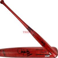 Larry Walker Signed Louisville Slugger Game Model Bat Inscribed HOF 2020 TRISTAR