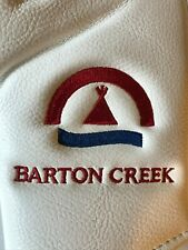 Barton Creek Country Club Members White Leather Magnetic Putter Blade Headcover