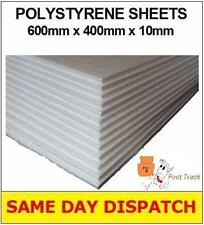 5 x STRONG EXCELLENT QUALITY POLYSTYRENE EPS FOAM PACKING SHEETS 600x400x10mm