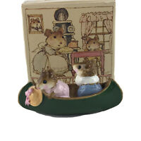 Wee Forest Folk 1981 Two In A Canoe Mouse Miniature Signed By William Petersen