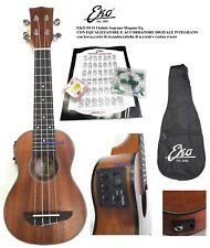 EKO DUO Ukulele Soprano Mogano Eq elettrificato c/accordatore,borsa,corde AQUILA