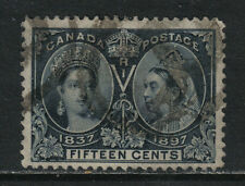 Canada 1897 Queen Victoria Jubilee 15c steel blue--Attractive Topical (58) used