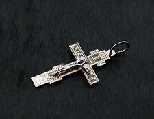 14K 585 Russian Gold Pravoslav Ortadox Cross Pendant Gift Boxed