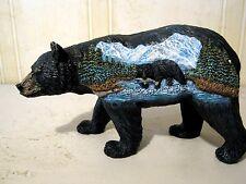 3 D Black Bear Figurine Bear Country Statue Bcbf