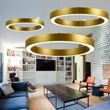 LED Aluminum Chandelier Dimming Acrylic Pendant Lamp Round Rings Ceiling Light A