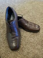 JOHNSTON & MURPHY Mens Brown Leather Lace Up Oxford Shoes 20-3602 size 12 m