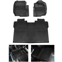All Weather Floor Mats Liners TPE For Ford F150 F-150 SuperCrew Cab 2015-2020