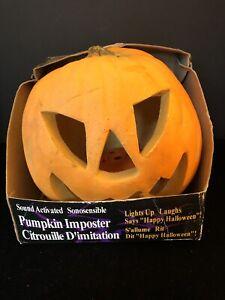 Gemmy PumpkIn Halloween Sound & Motion Activated Talking Jack-o-Lantern 1992