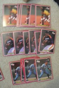 Lot of 23 1984 Donruss Action All star Nolan Ryan Henderson Brett Jumbo Cards
