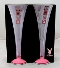 120778 PLAYBOY SET OF 2 CHAMPAGNE GLASSES