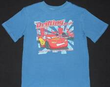 CARS LIGHTNING McQUEEN Disney T-shirt Blue NEW Sz 8