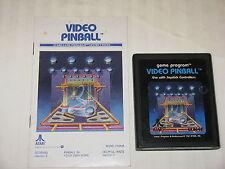 Video Pinball game cartridge for Atari 2600 w/ instructions