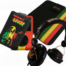 hemp iPad, iPad 2 or iPad 3 case,  iPod / iPhone case & Rasta headphones