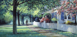 Paul Landry THE PAPERBOY art print New England