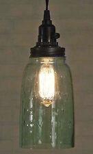 Vintage Rustic Half Gallon Mason Jar Open Bottom Industrial Pendant Light Lamp