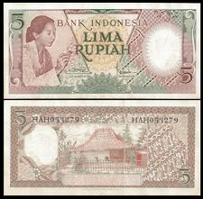 Indonesia 5 RUPIAH 1958 P 55 UNC