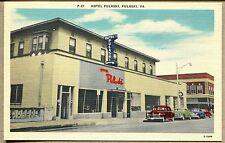 VINTAGE LINEN POSTCARD - Hotel Pulaski, Pulaski, VA