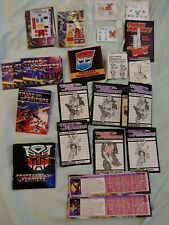 Transformers Vintage 80s Lot Of V1 Stickers W/Posters And Instruction Booklets