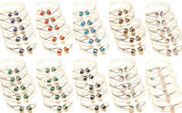 Bracelets Bangel Cuff Silver Plated Handmade Gemstone Jewellery Adjustable isj28
