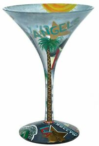 Lolita | LA-Tini MARTINI GLASS ✪BRAND NEW✪ RETIRED LOS ANGELES 7 Oz HAND PAINTED