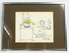 Mom's Home Cooking Halloween 1988 Cartoon Ink Signed Numbered Art Framed Print