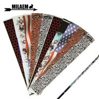 12pcs Archery Arrow Shaft Wraps Sticker Adhesive Decoration Bow DIY Tool Shoot