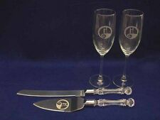 Nightmare Before Christmas Jack Sally Wedding Glasses & knife set