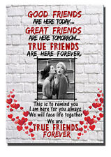 Personalised, Good Friends Plaque Sign Best Friend Gift Shabby Chic, Wooden Sign