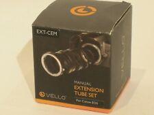 VELLO MANUAL EXTENSION TUBE SET for CANON EOS EXCELLENT CONDITION