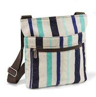 Thirty one gift Organizing shoulder Bag purse Cabana Twill Stripe 31