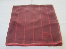 "USED RED PLAID PATTERN TONE COTTON 18"" POCKET SQUARE HANDKERCHIEF FOR MEN"
