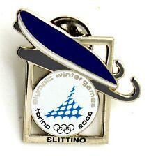 Pin Spilla Olimpiadi Torino 2006 Attrezz. Sportive - Slittino