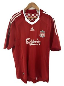 Liverpool FC Adidas Carlsberg Home (2006-2008) Football Shirt Jersey Size L/XL